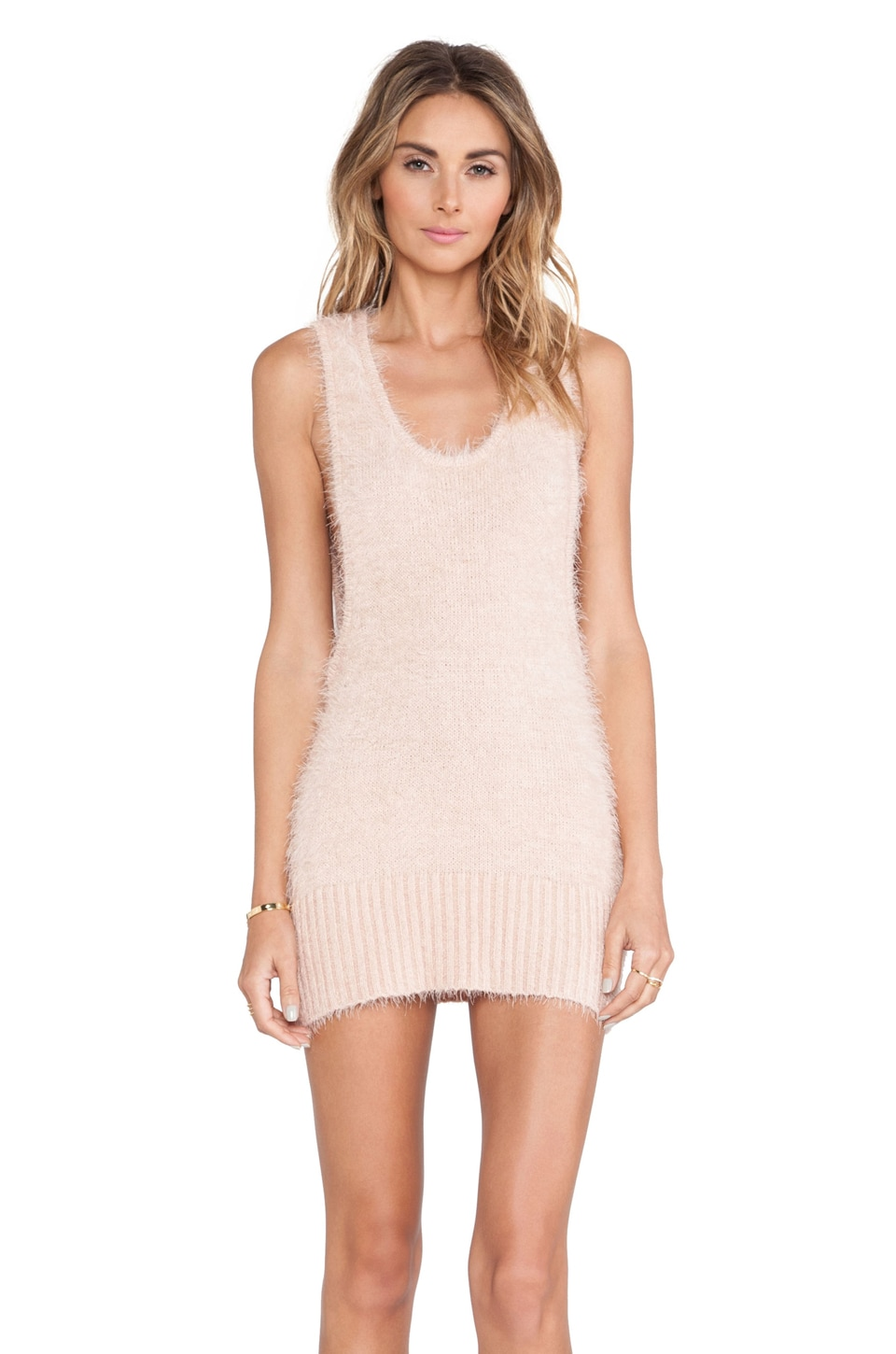 For Love & Lemons Ski Bunny Tank Dress in Blush
