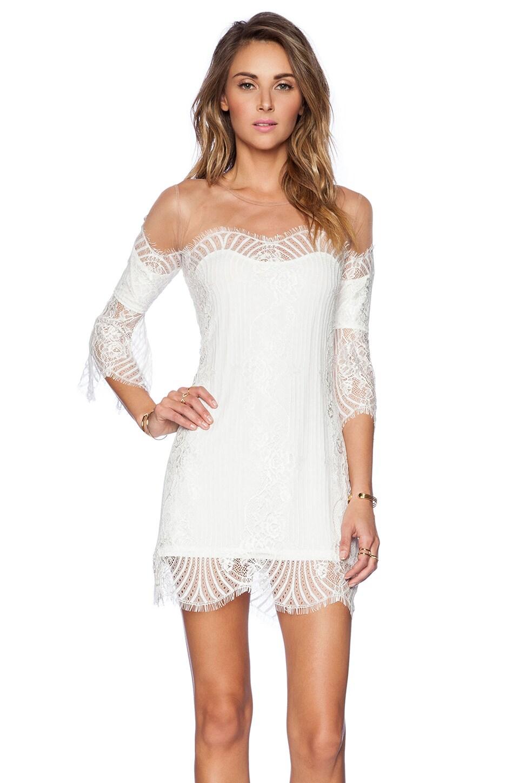 For Love & Lemons Belle Mini Dress in White