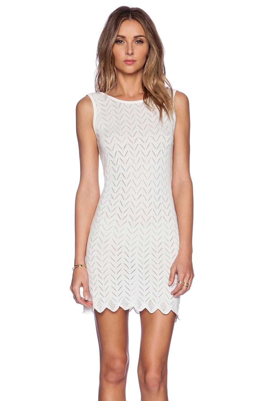 For Love & Lemons Lemon Drop Mini Dress in White