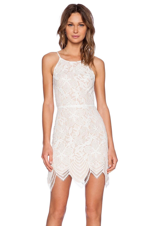 For Love & Lemons Guava Mini Dress in White