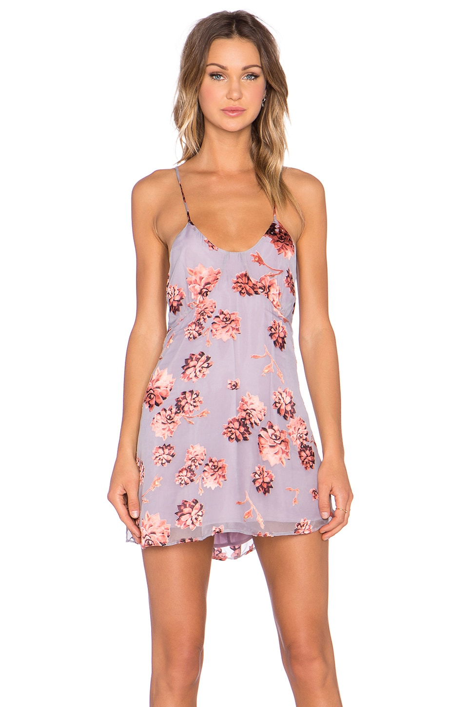 For Love & Lemons Marina Mini Dress in Sunset