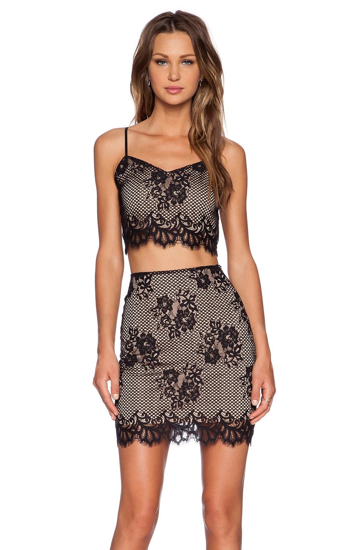 For Love & Lemons x REVOLVE Tiki Bar Crop and Skirt Set in Black