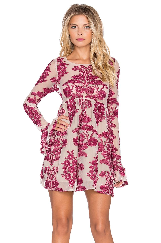 35250ff4b6d For Love   Lemons Temecula Mini Dress in Wine