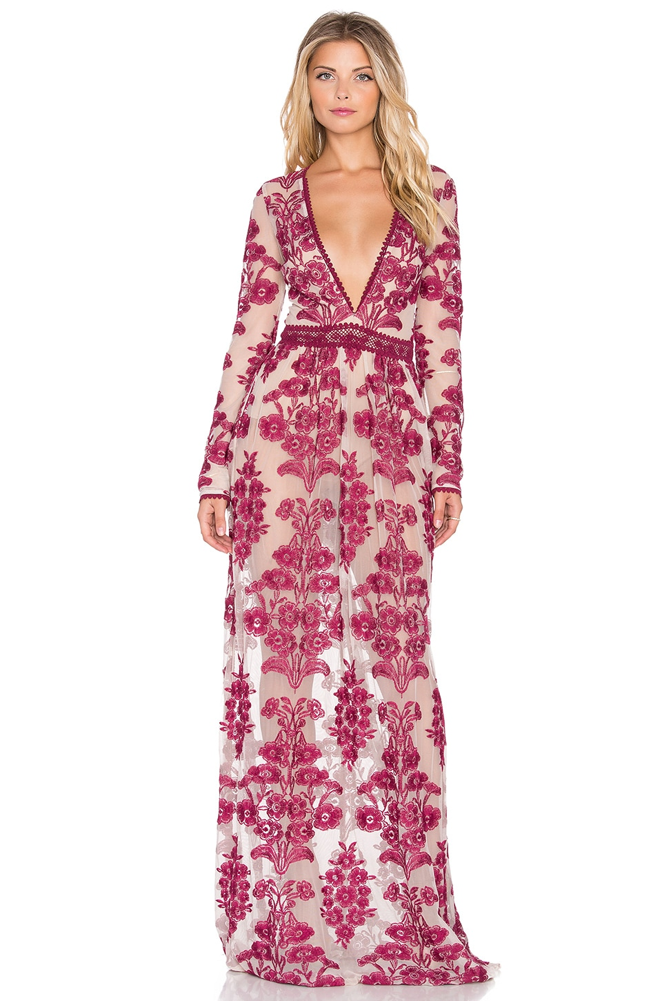 a7121d960af For Love   Lemons Temecula Maxi Dress in Wine
