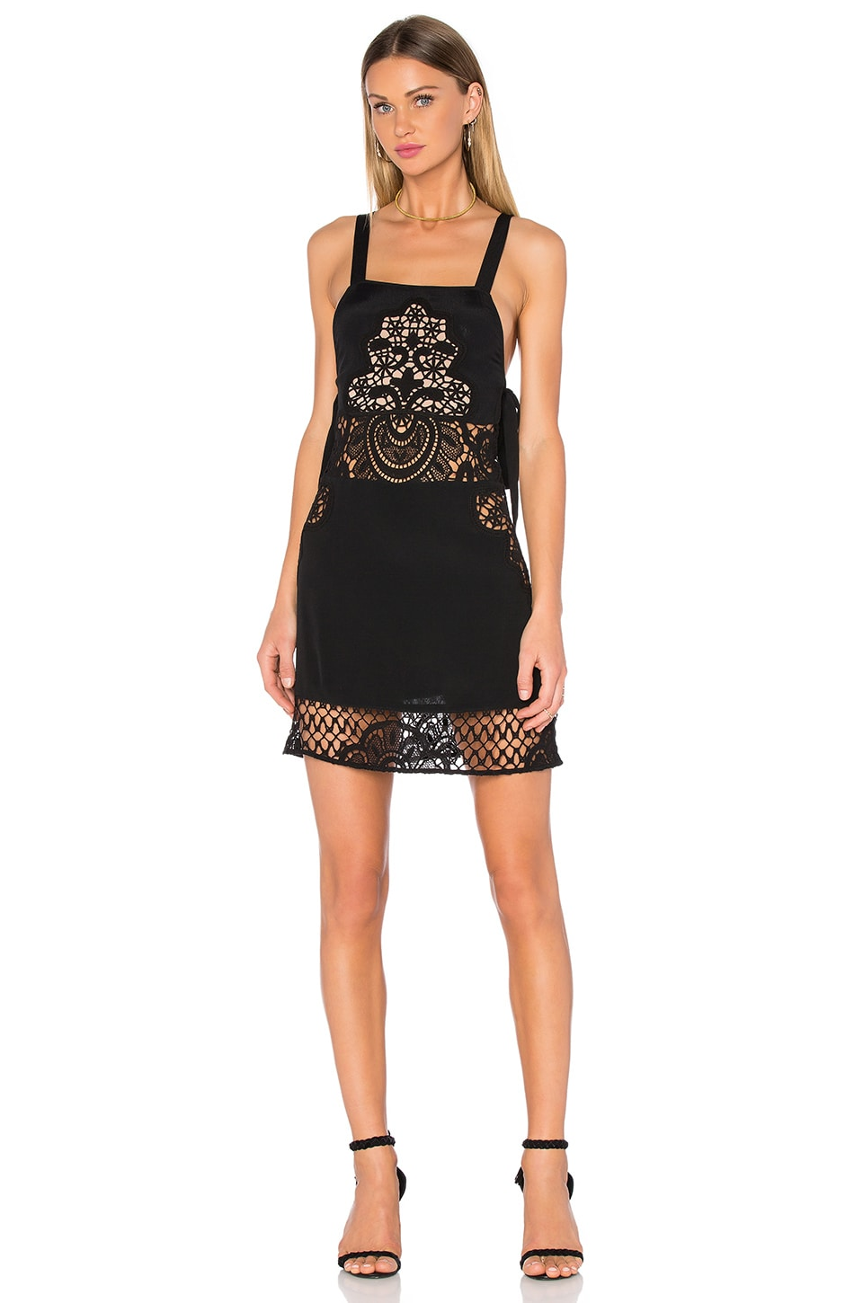 For Love & Lemons Gracey Tank Dress in Black