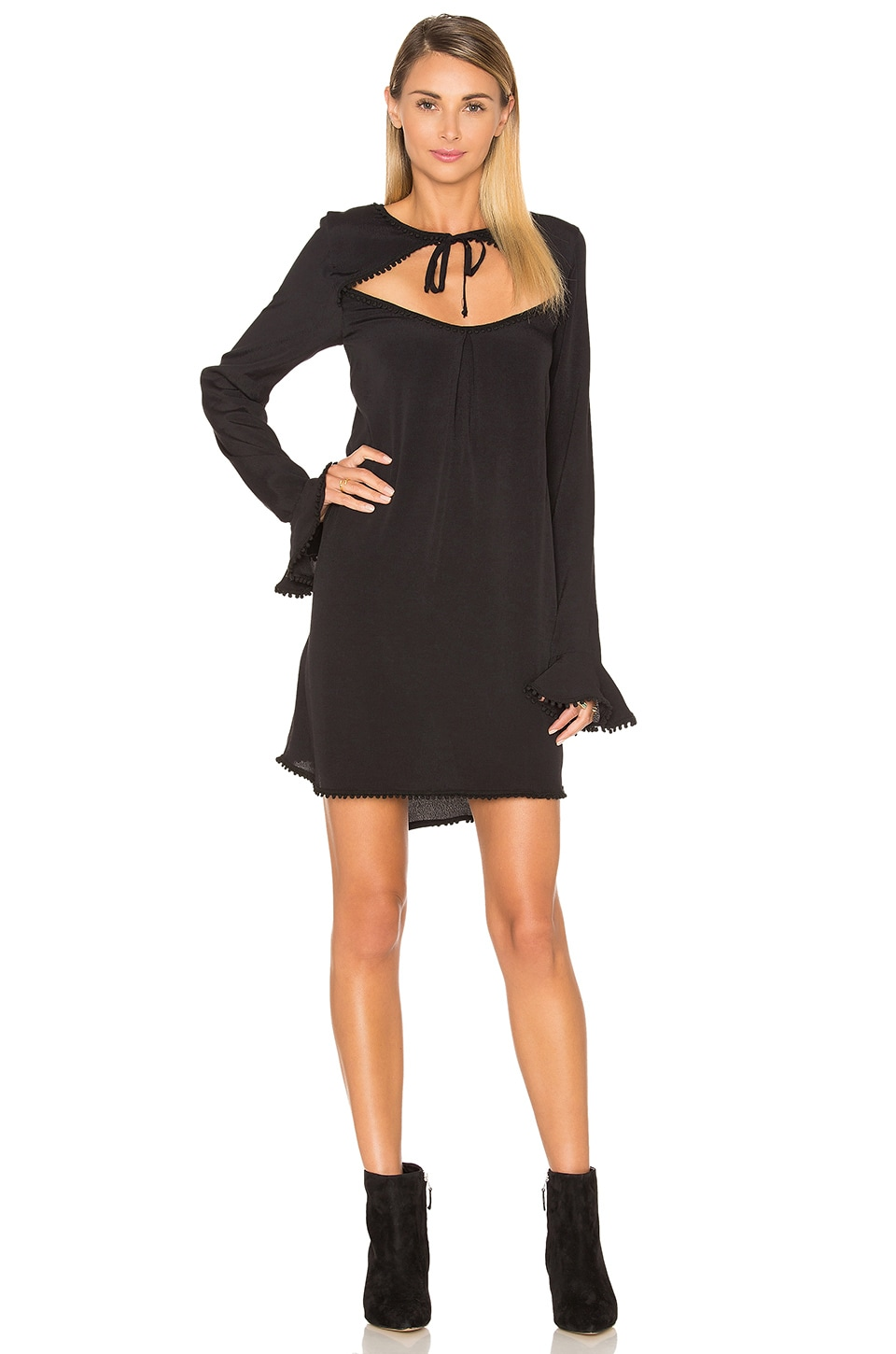 For Love & Lemons Josephina Swing Dress in Black