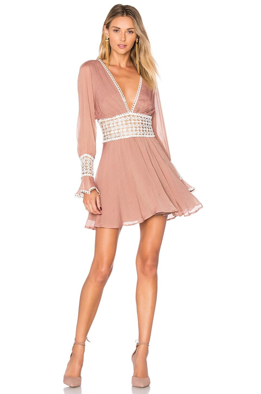 For Love & Lemons Celine Mini Dress in Lavender
