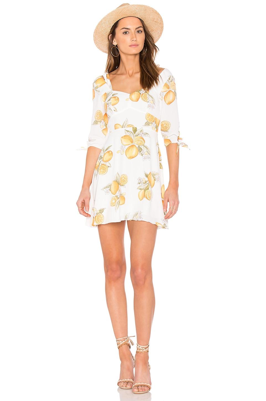 For Love & Lemons Limonada Mini Dress in Lemon