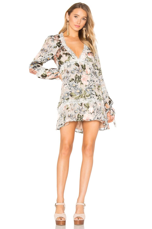 For Love & Lemons Luciana Swing Dress in Ivory Floral