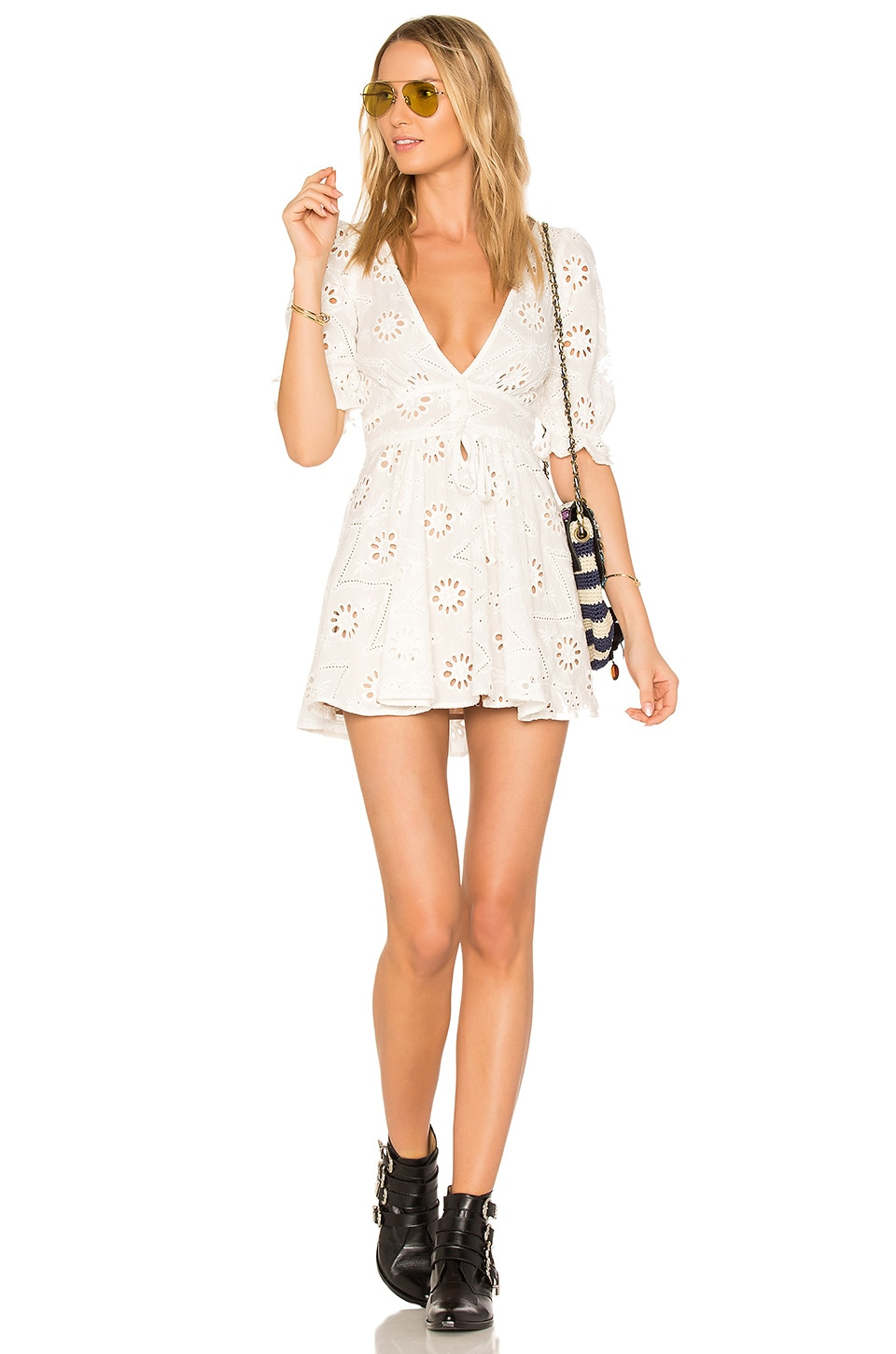 For Love & Lemons X REVOLVE Eyelet Dress in White