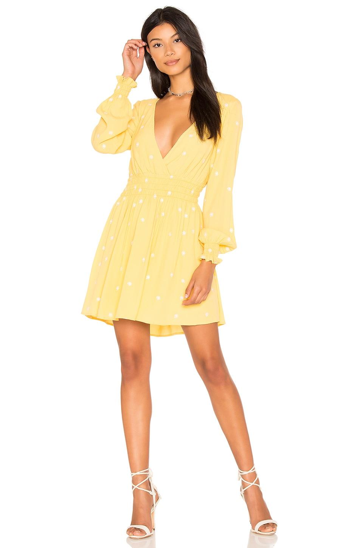 For Love & Lemons Chiquita Long Sleeve Dress in Daisy