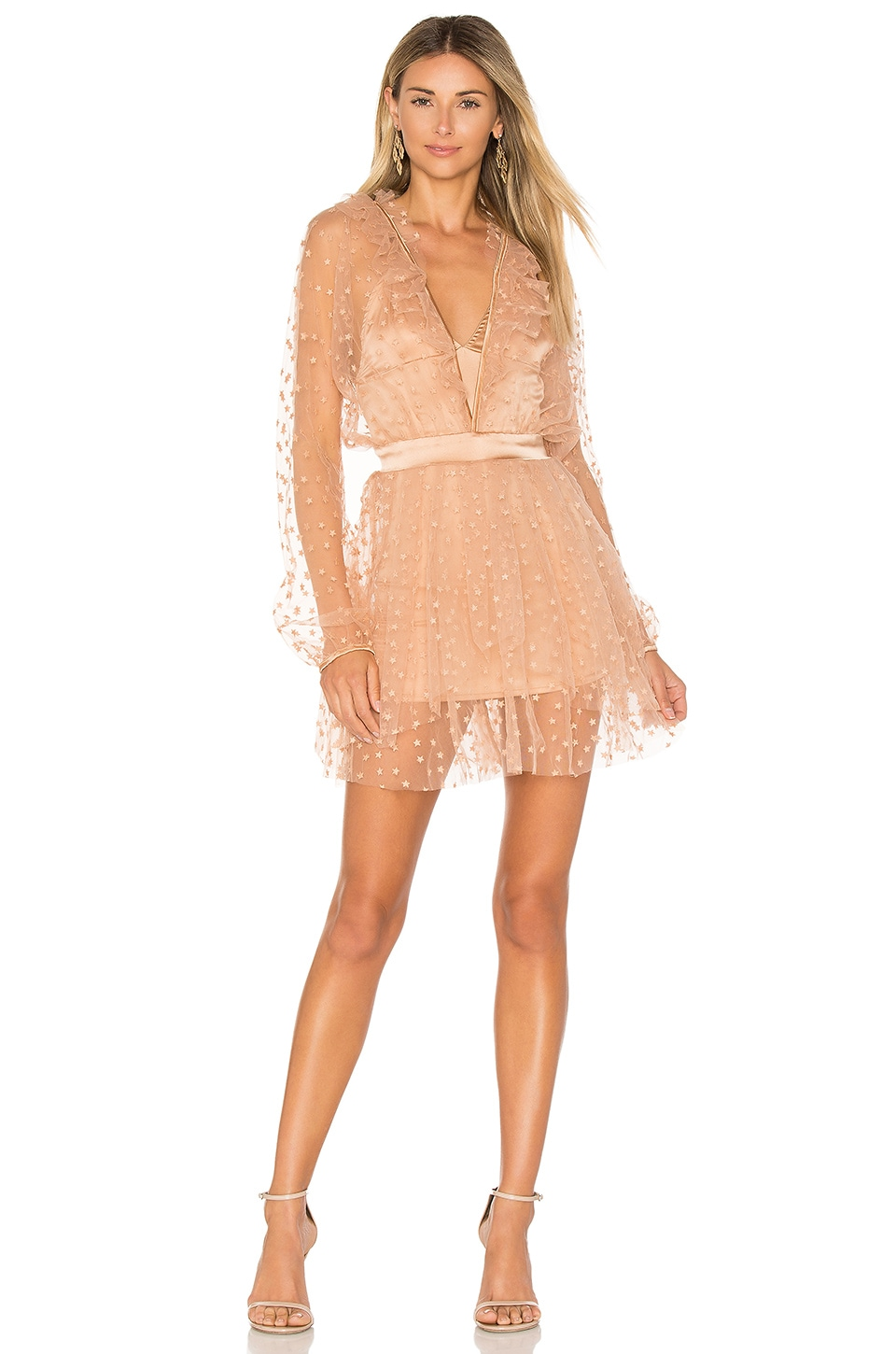 For Love & Lemons МИНИ ПЛАТЬЕ ALL THAT GLITTERS
