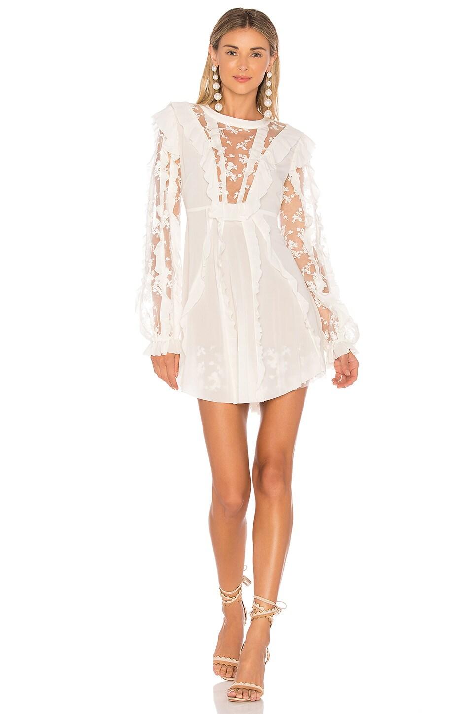 6cfe2594f2af For Love & Lemons Rosebud Ruffle Mini Dress in Ivory   REVOLVE
