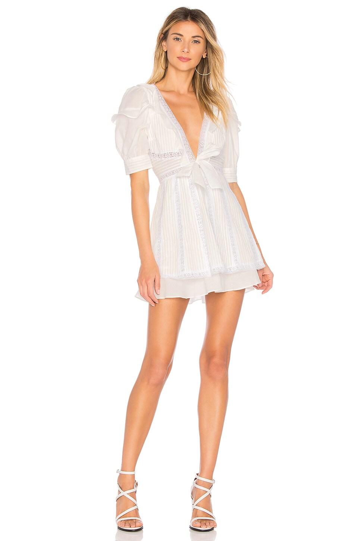 For Love & Lemons x REVOLVE Pintuck Dress in White