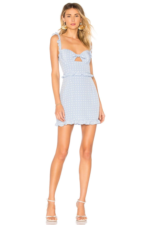 For Love & Lemons Sweetheart Mini Dress in Periwinkle