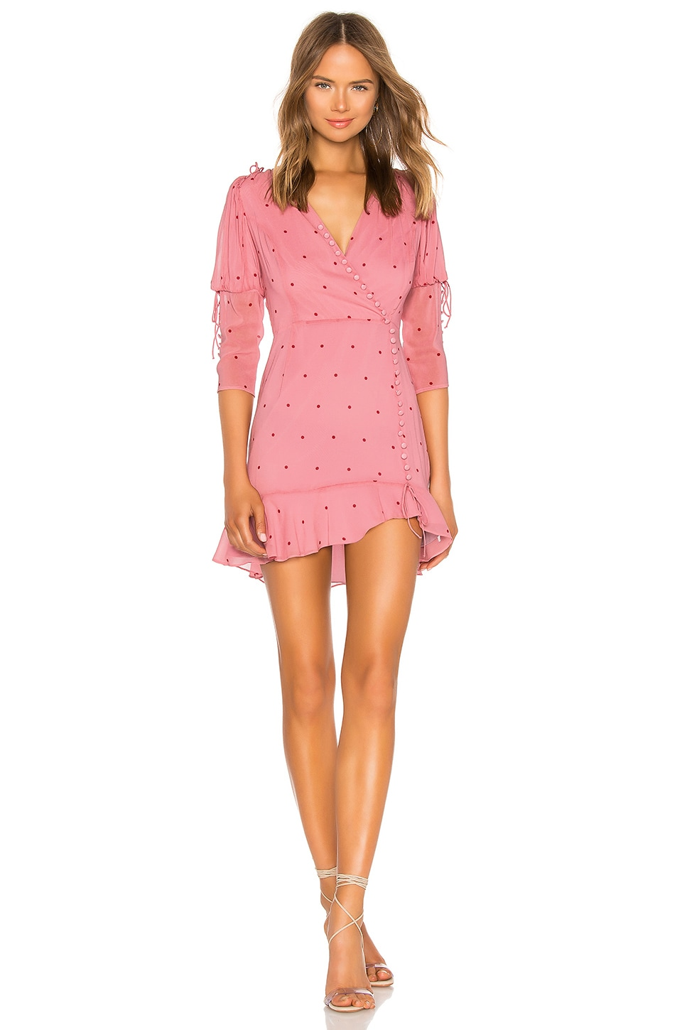 For Love & Lemons ROSIE BUTTON MINI DRESS