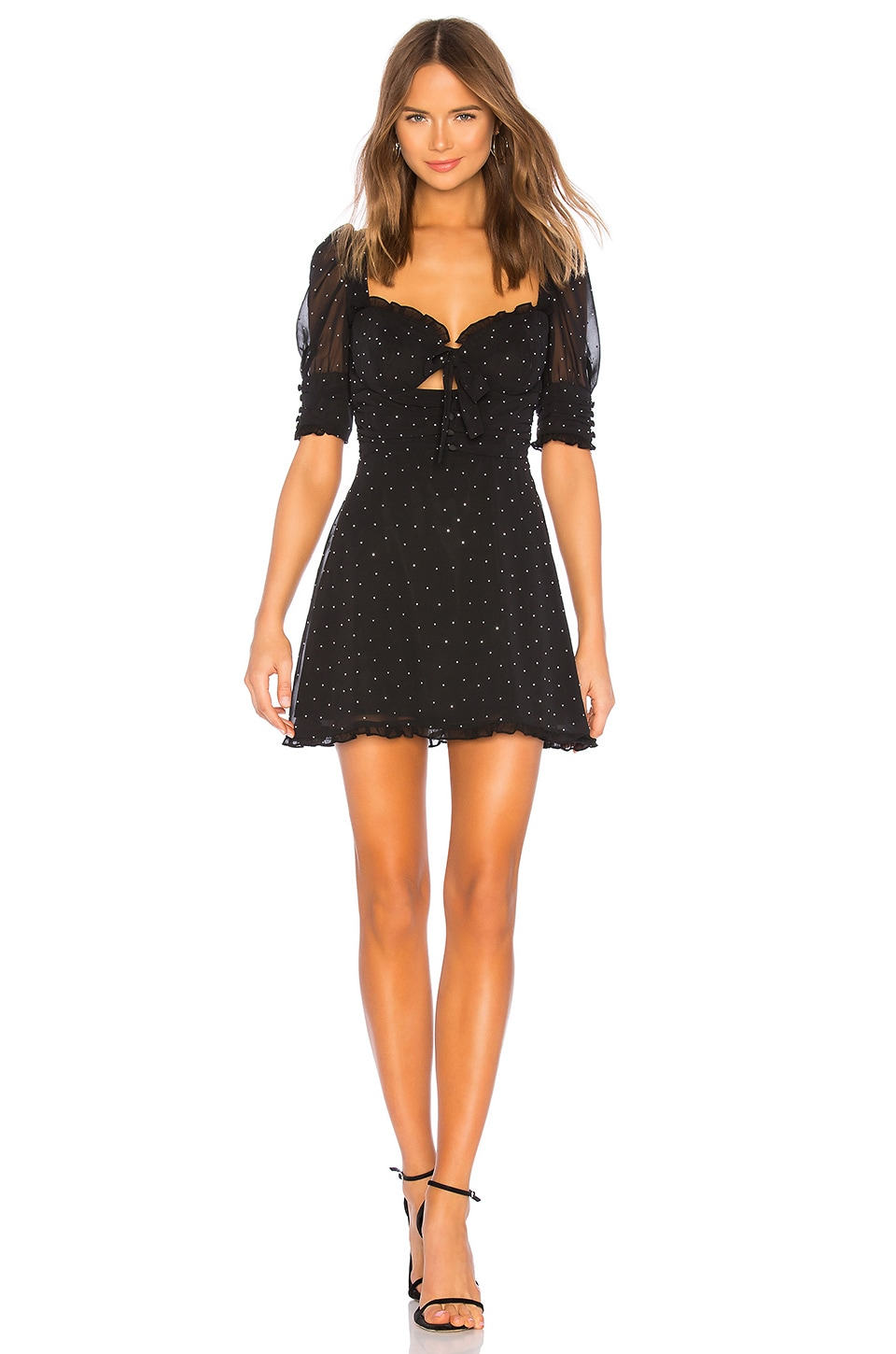 For Love & Lemons Lucky Dice Mini Dress in Twilight