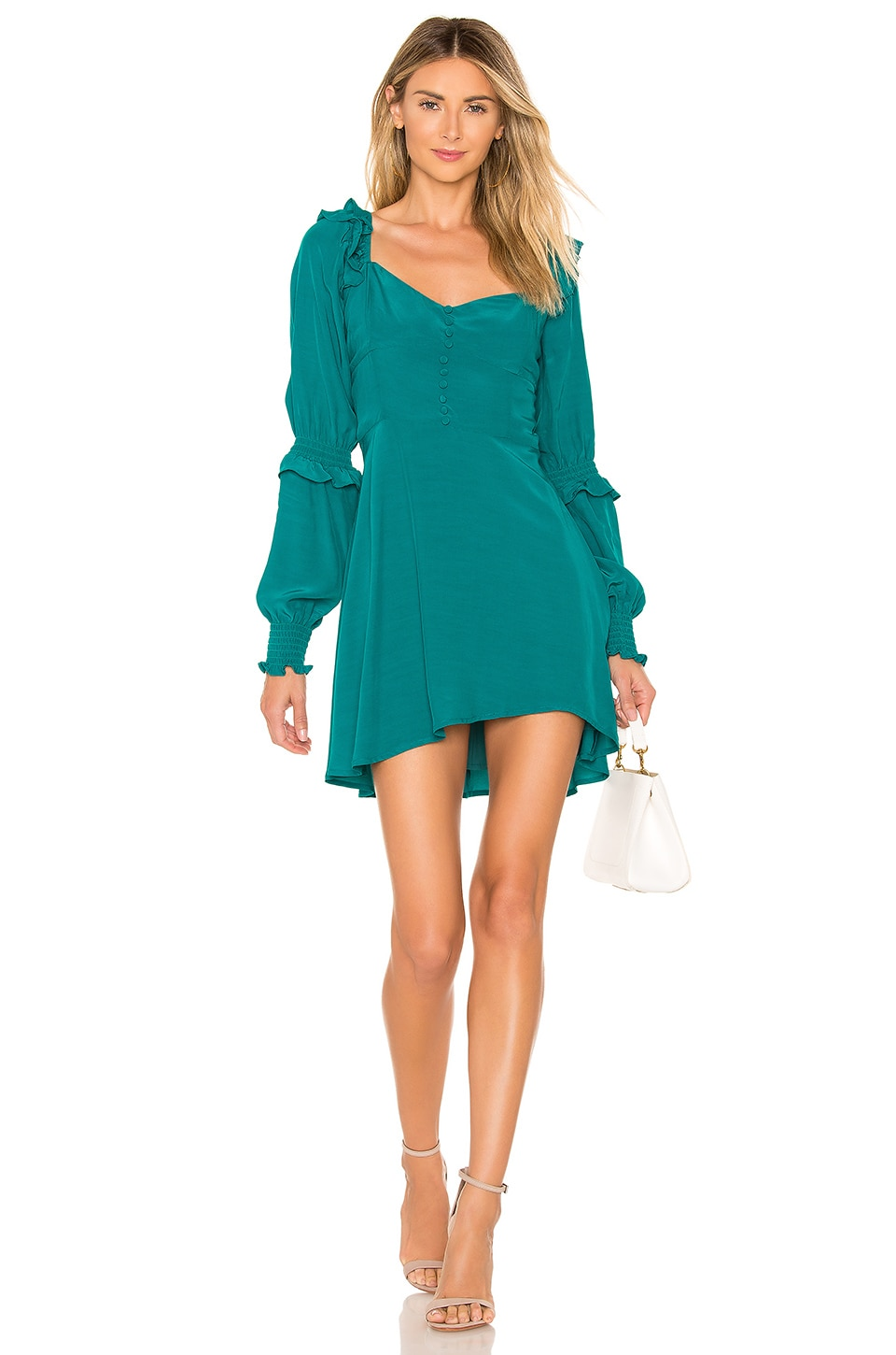 For Love & Lemons X REVOLVE Sweetheart Dress in Emerald