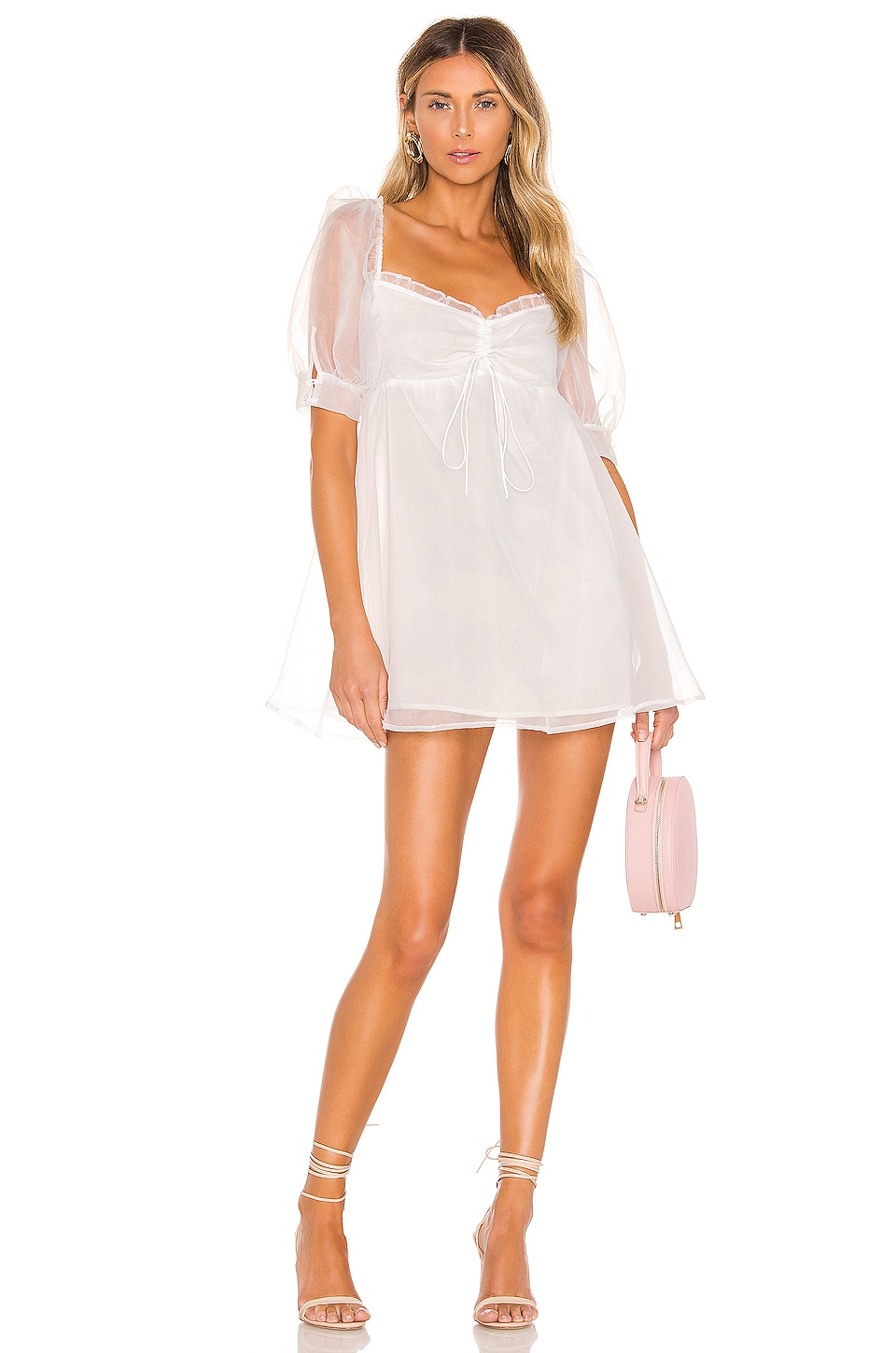 For Love & Lemons X REVOLVE Cinched Babydoll Dress in White