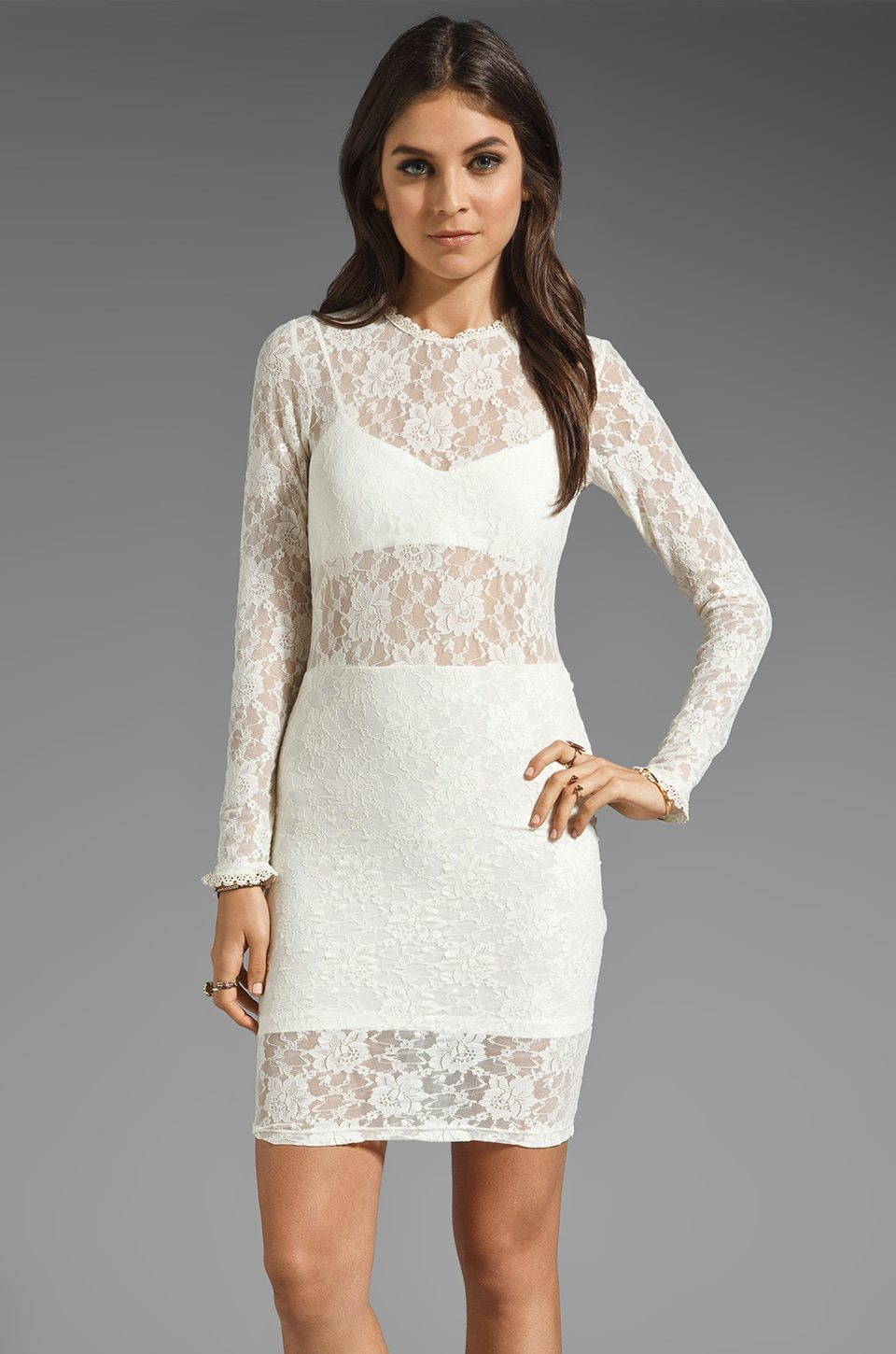 For Love & Lemons Lila Dress in White