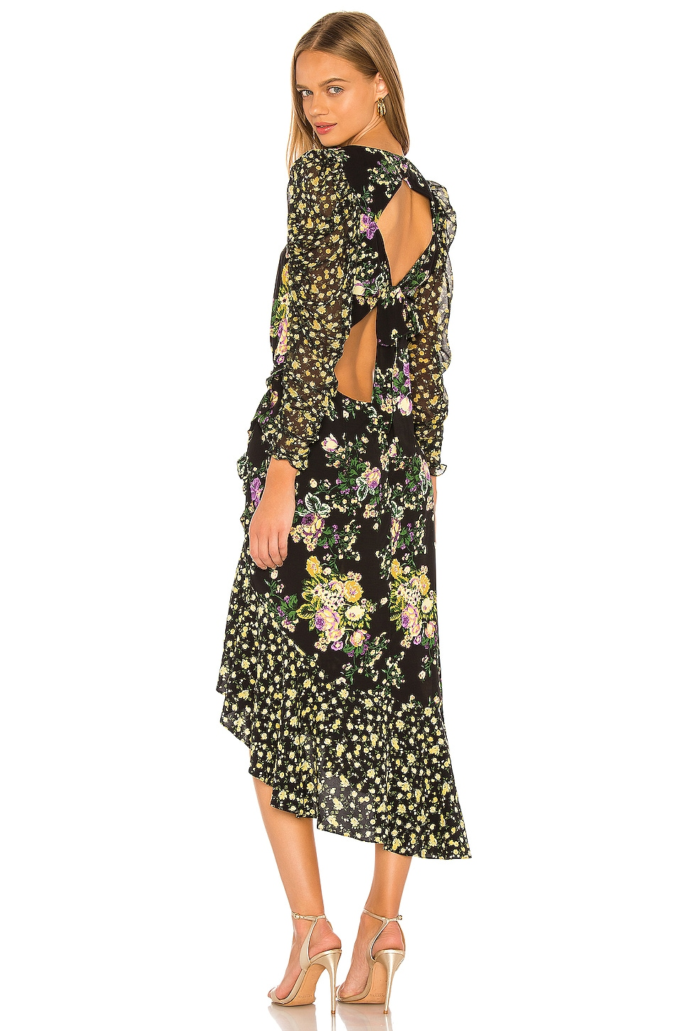 For Love & Lemons Ross Midi Dress in October Floral
