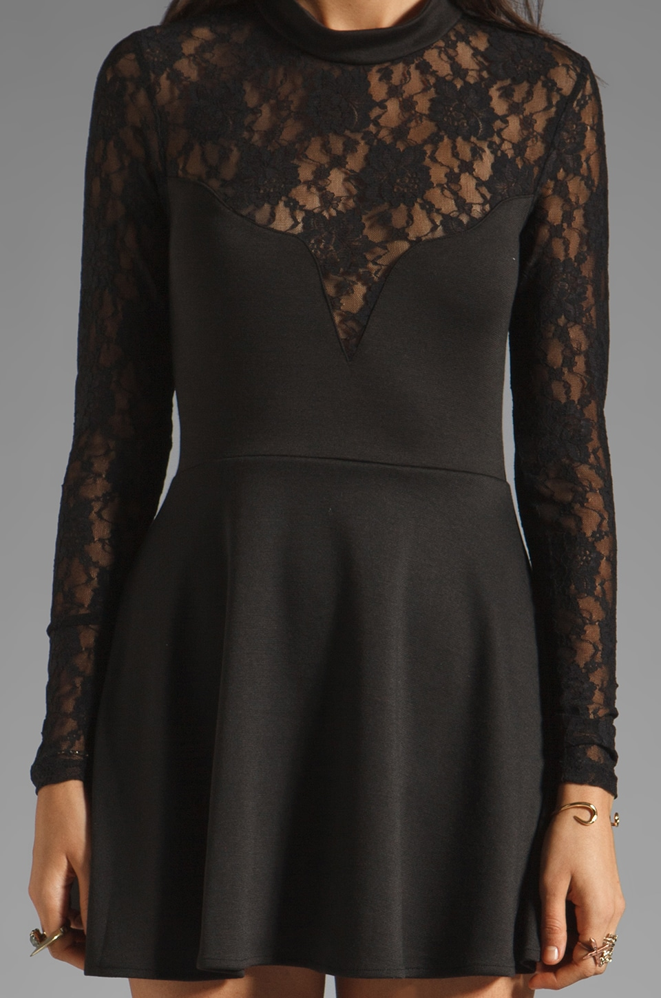 For Love & Lemons Tarot Dress in Black