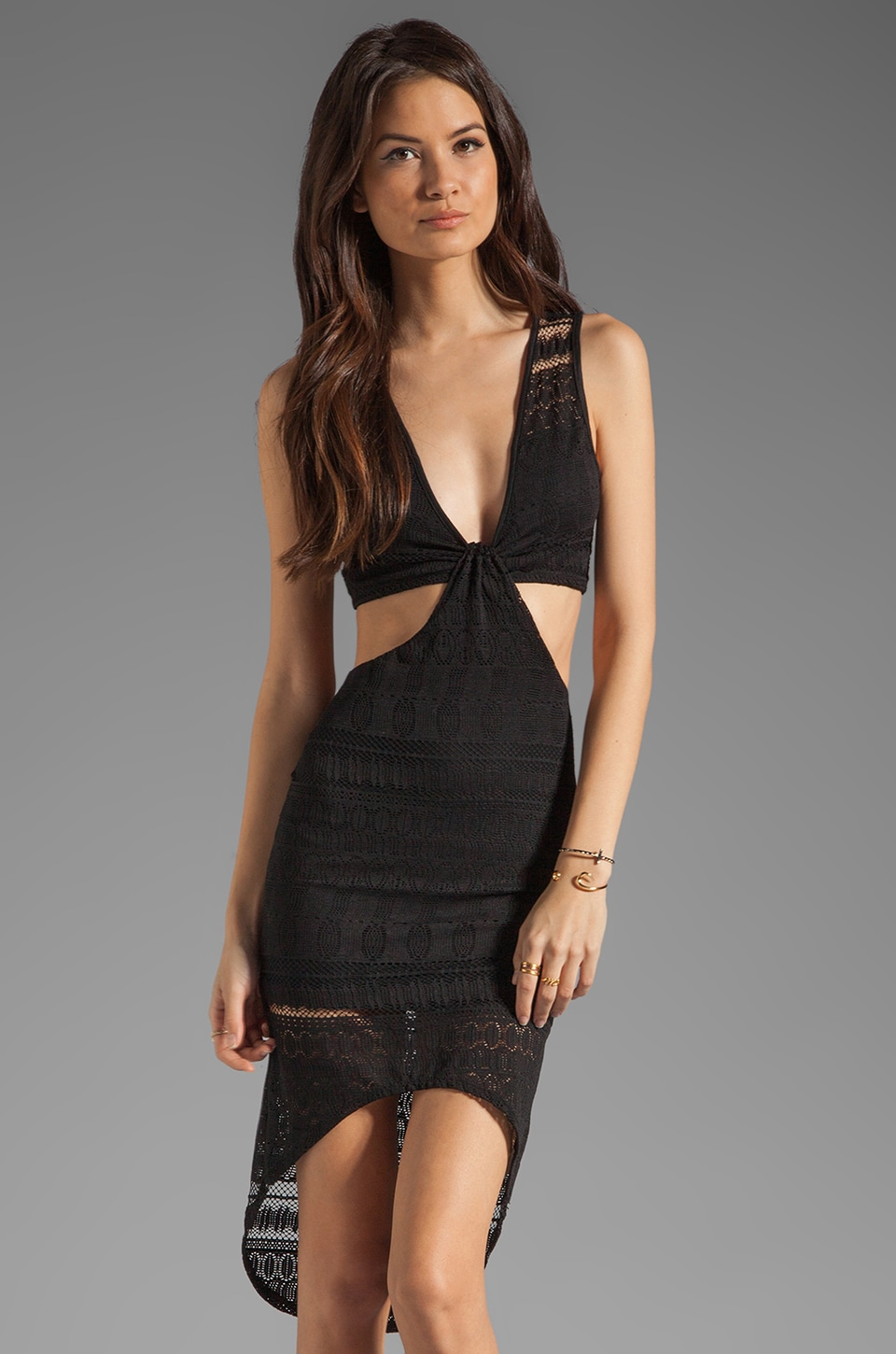 For Love & Lemons Parsienne Dress in Black