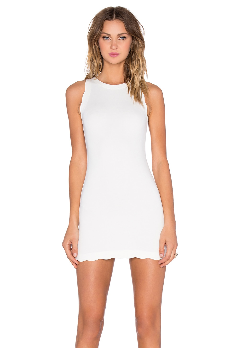 For Love & Lemons EXCLUSIVE Rosarito Dress in Ivory