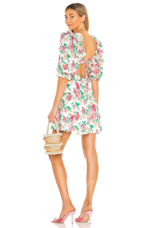 For Love & Lemons Imogen Mini Dress in Ivory