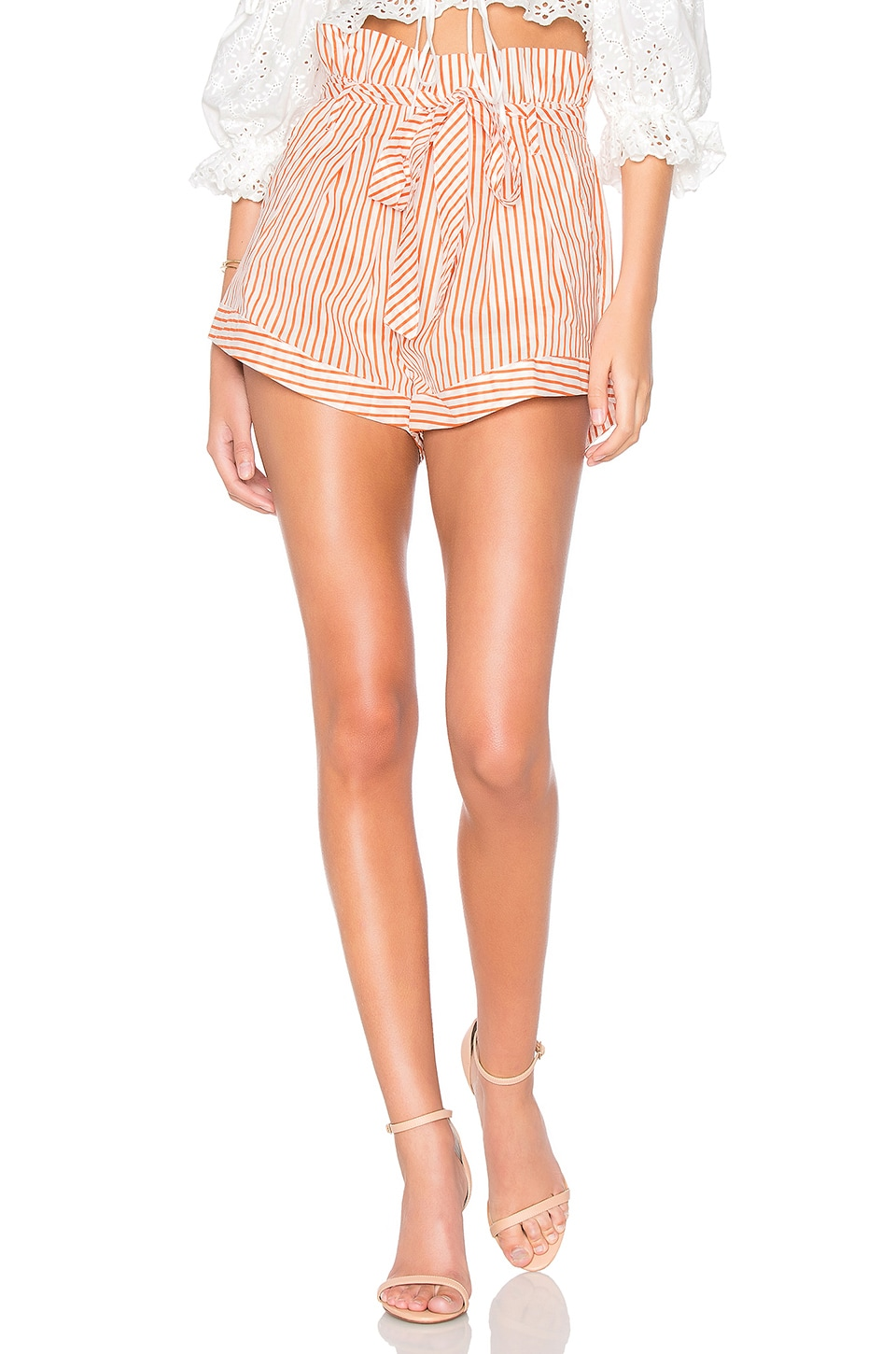 For Love & Lemons Isla Striped Short en Stripe