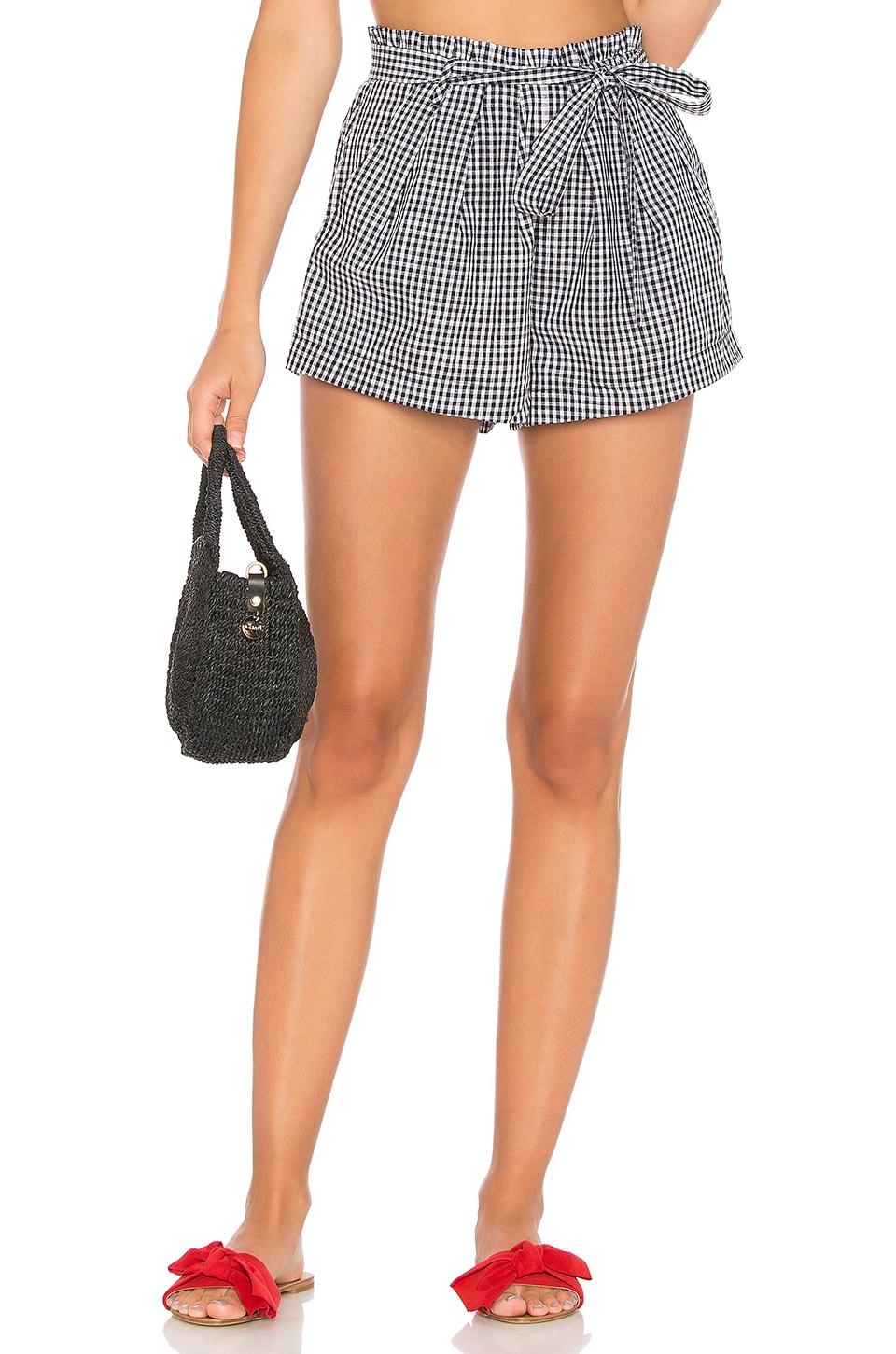 For Love & Lemons Gingham Short in Gingham