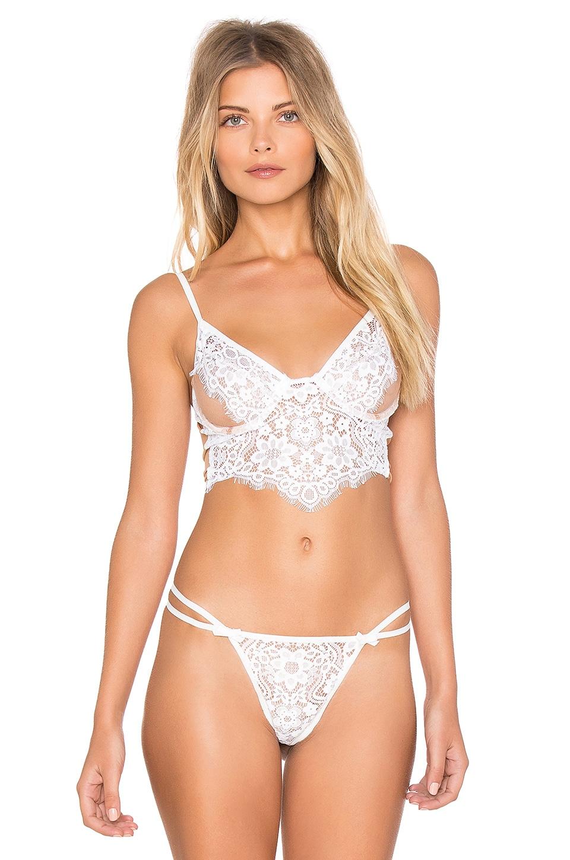For Love & Lemons Kate Underwire Bra in White