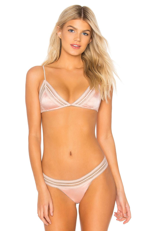 For Love & Lemons Vera Triangle Bralette in Soft Pink