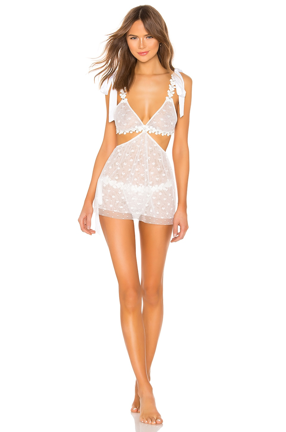 For Love & Lemons Dresses Marguerite Tie Bra With Removable Dress