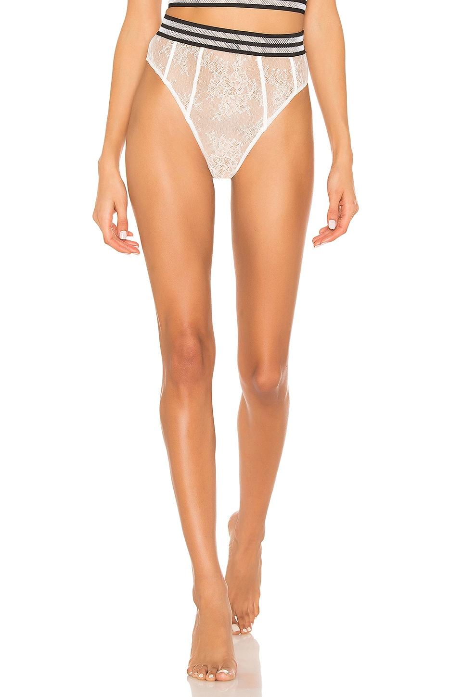 For Love & Lemons Julienne Lace Hi Waist Panty in Blanc