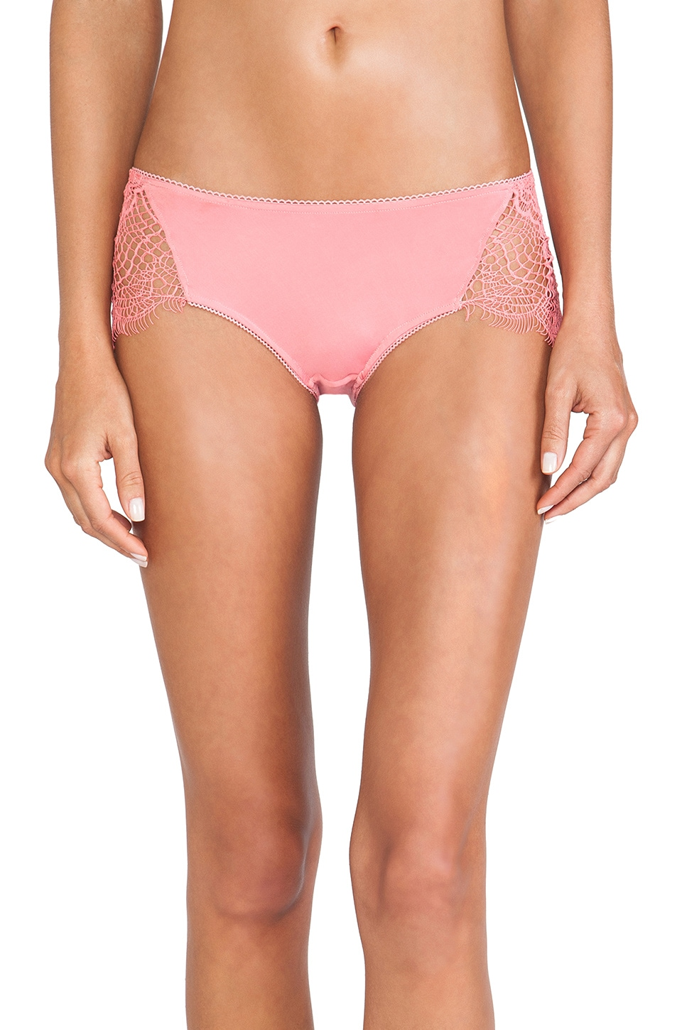 For Love & Lemons X REVOLVE Bat Your Lashes Panty in Pink Spiderweb