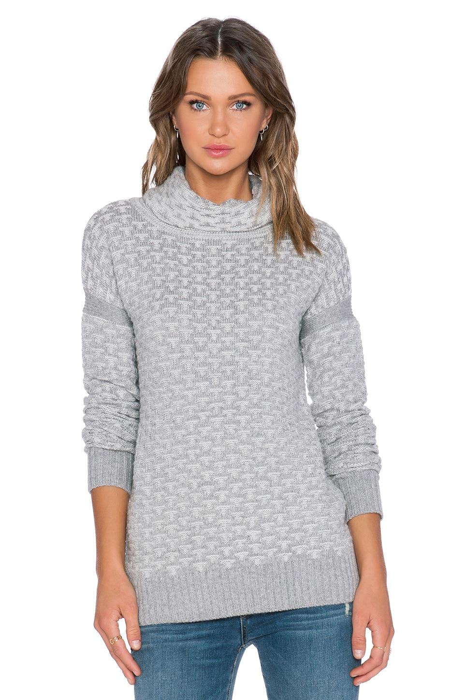 For Love & Lemons Big Sur Turtleneck Sweater in Grey | REVOLVE