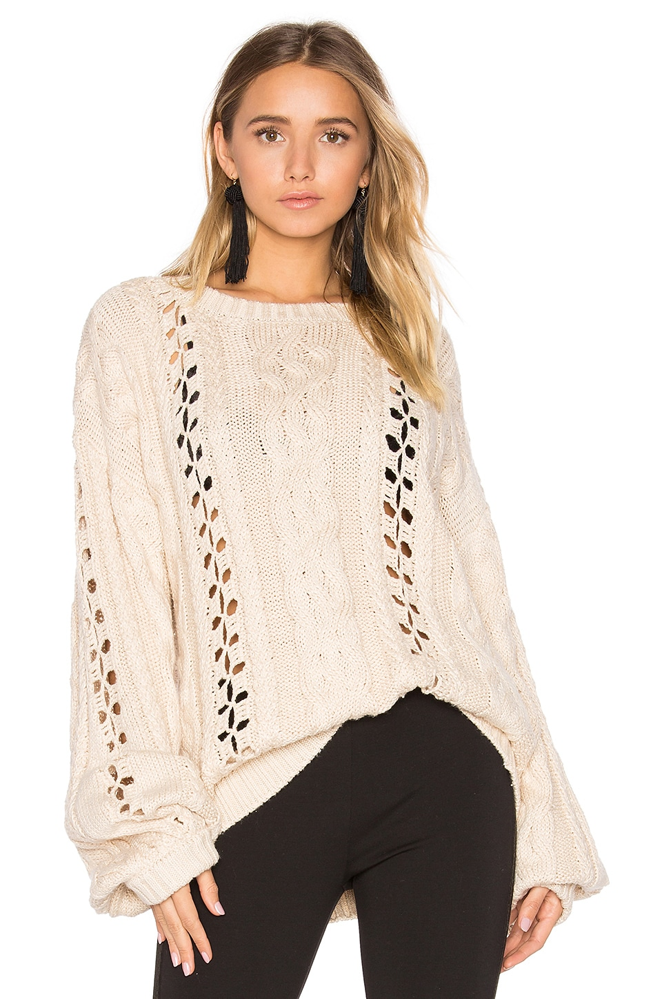 KNITZ Wythe Bell Sleeve Sweater by For Love & Lemons