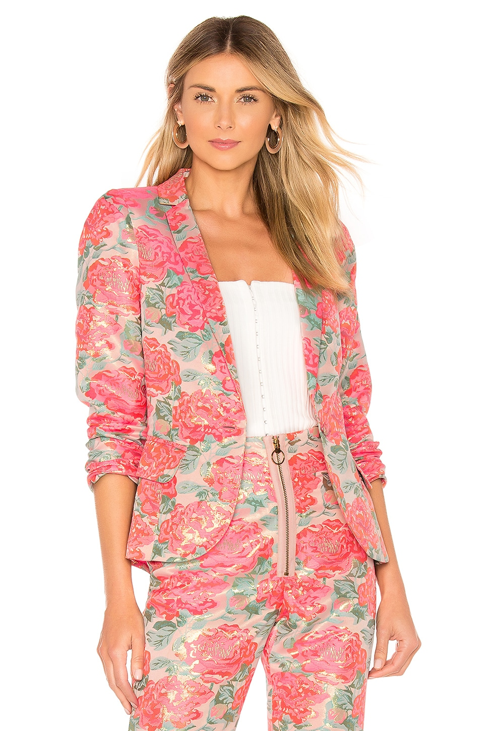 For Love & Lemons Jackpot Brocade Blazer en Floral
