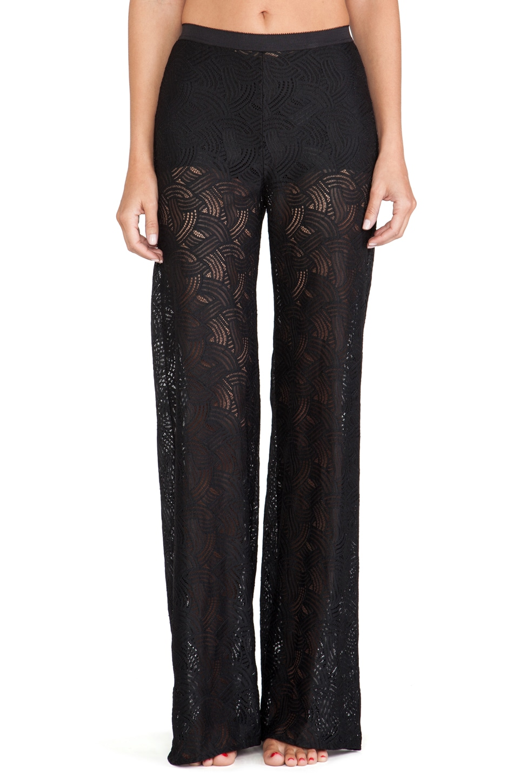 For Love & Lemons Femme Fatale Lace Pants in Black