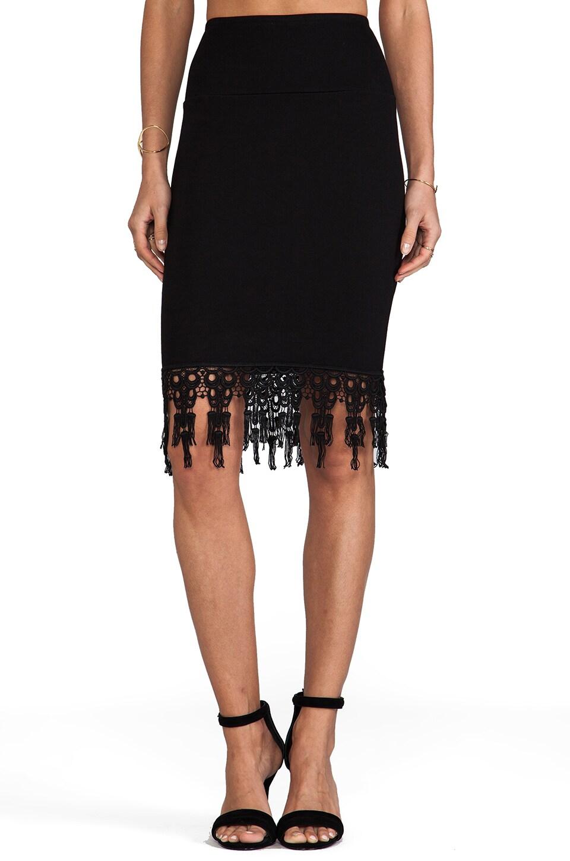 For Love & Lemons Bandit Pencil Skirt in Black