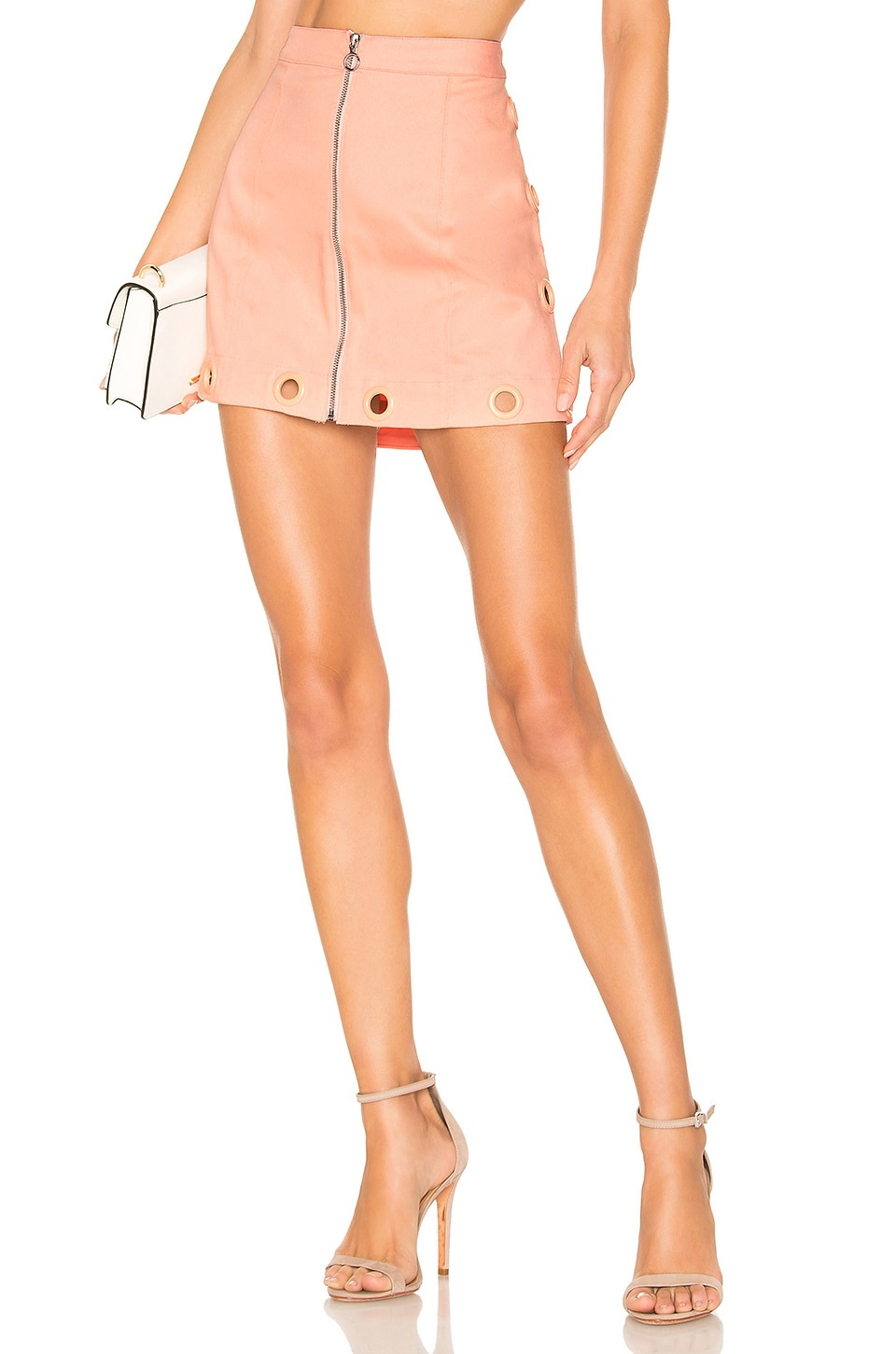 For Love & Lemons Creme Puff Mini Skirt in Cotton Candy