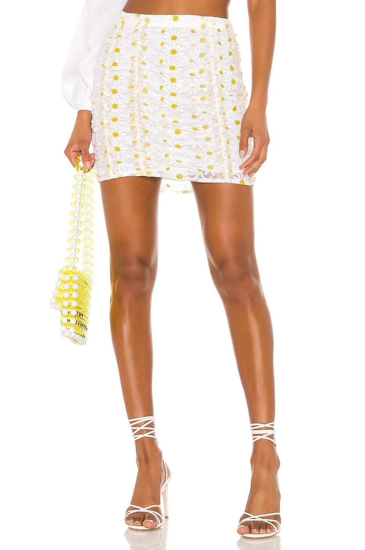 For Love & Lemons Brulee Daisy Skirt in Daisy