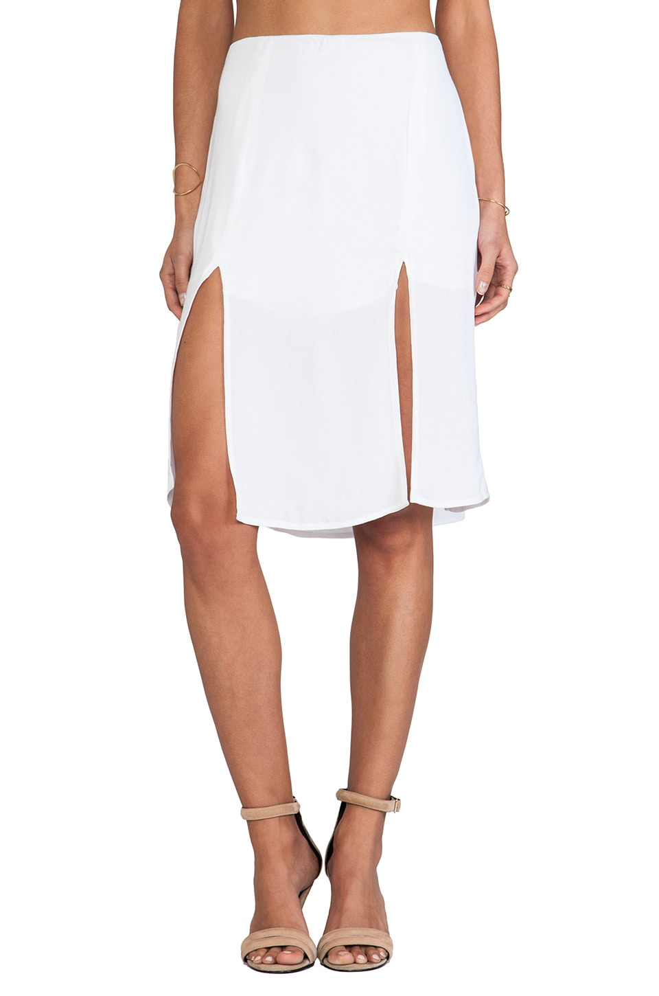 For Love & Lemons Pepe Mini Skirt in Ivory