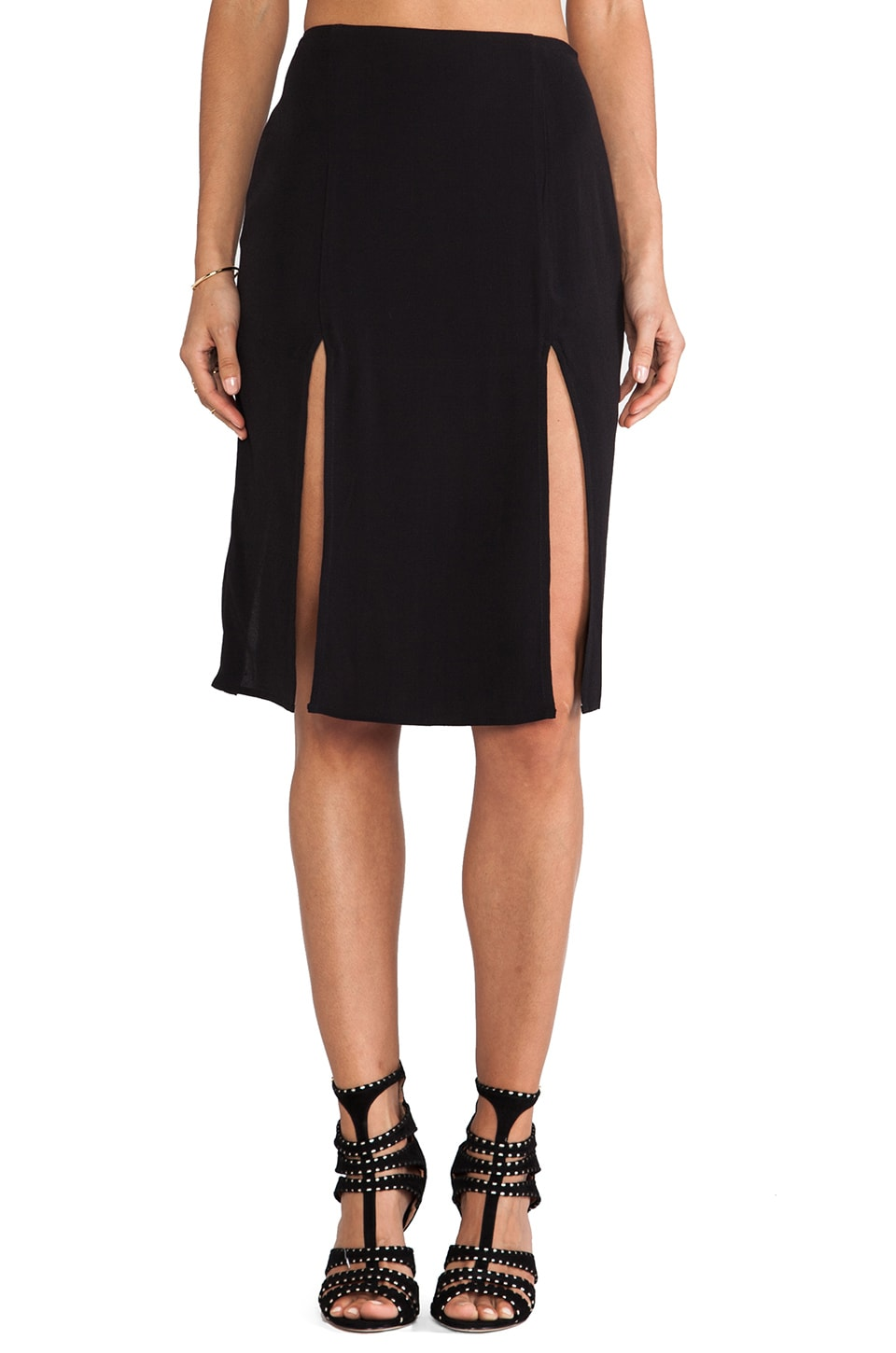 For Love & Lemons Pepe Skirt in Black