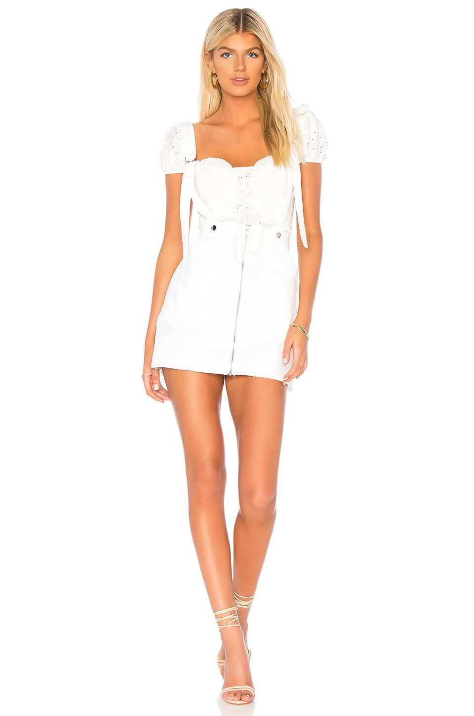 For Love & Lemons MONIKA OVERALLS MINI SKIRT