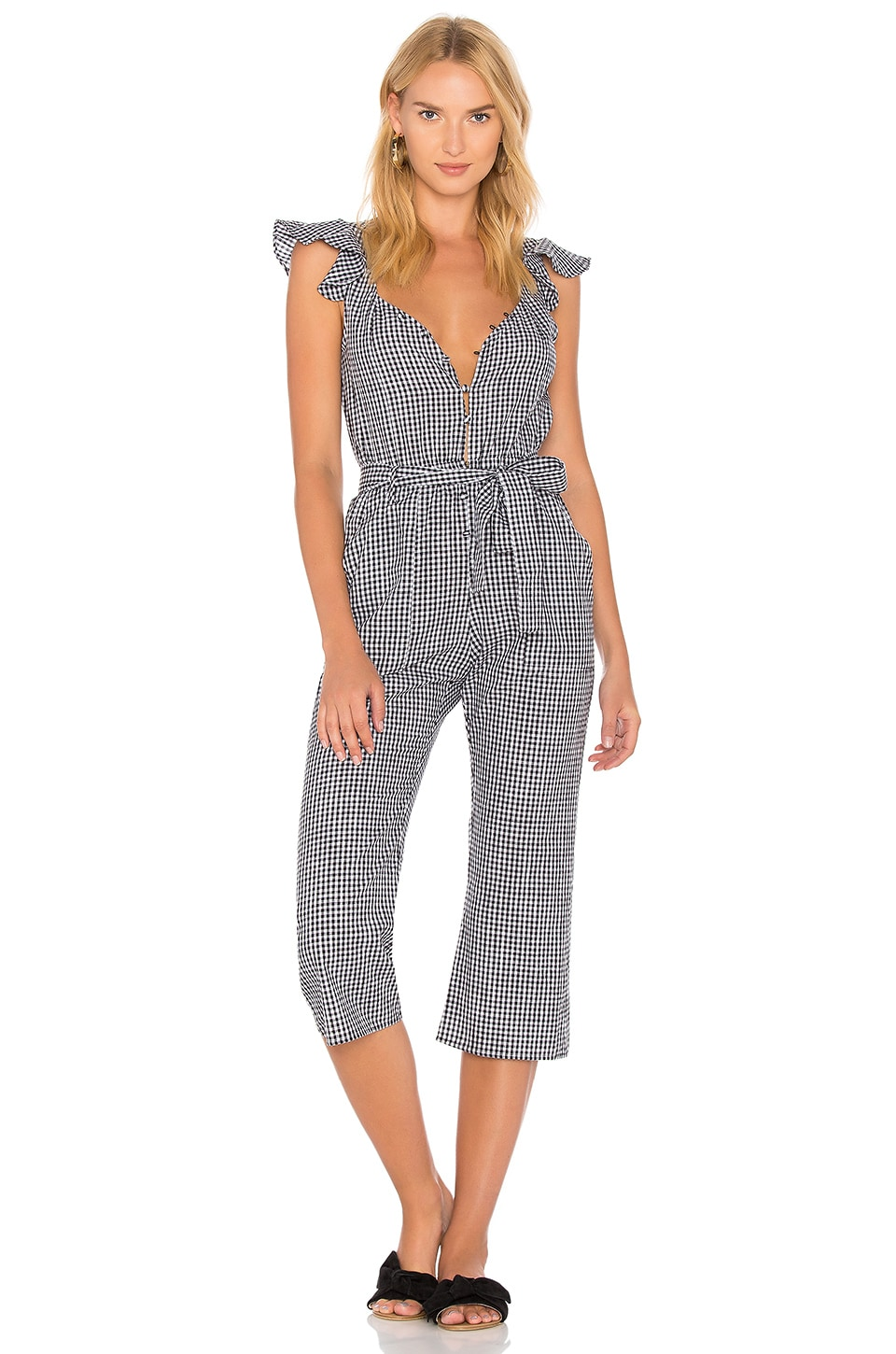 For Love & Lemons Gingham Jumpsuit in Gingham