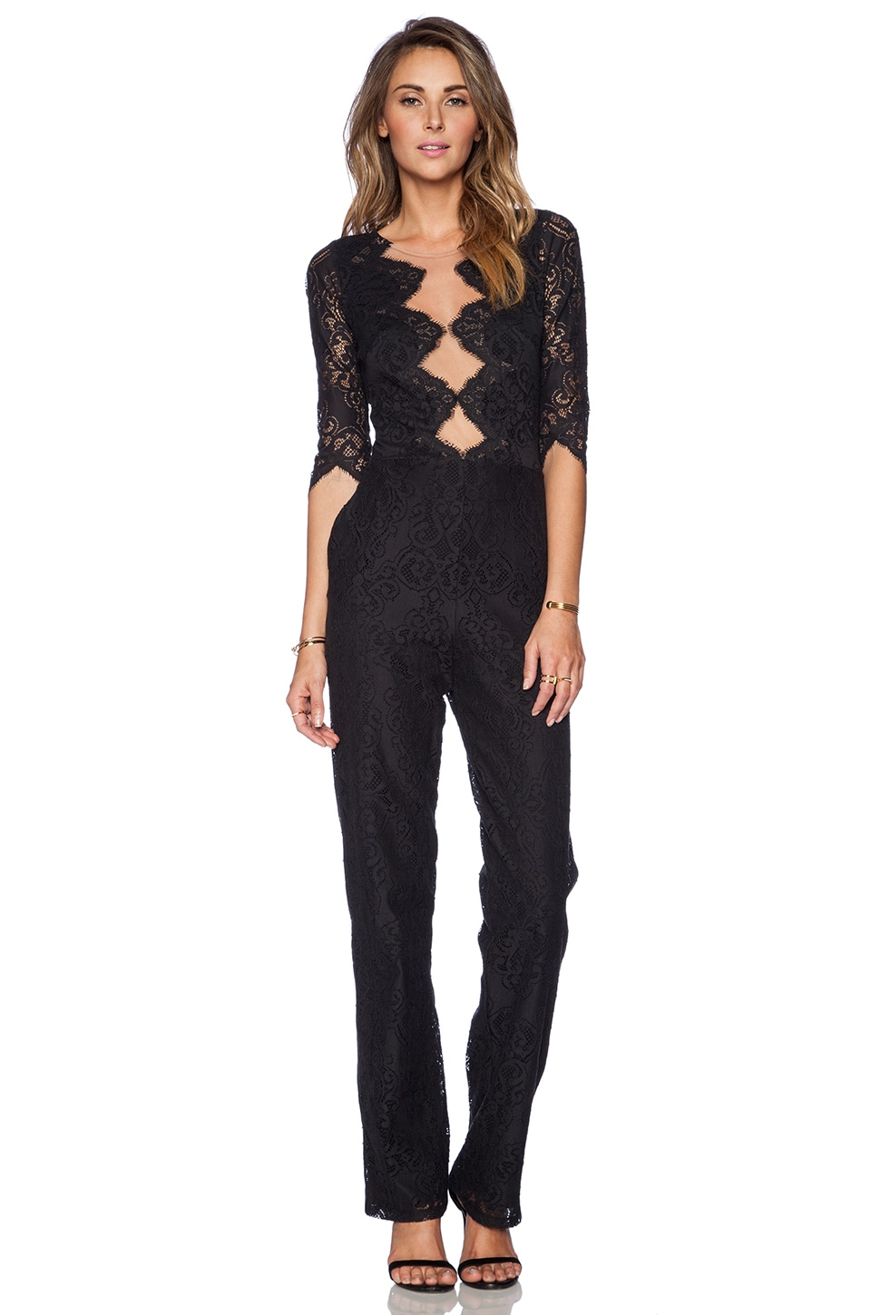 For Love & Lemons Noir Jumpsuit in Black