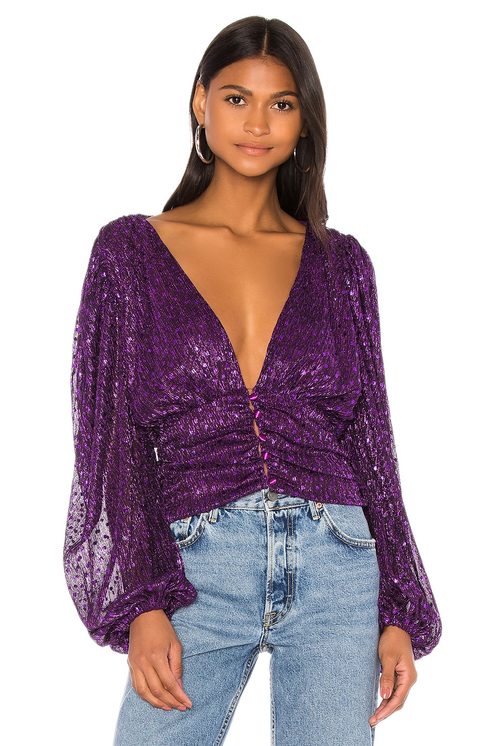 For Love & Lemons Accessories La Villette Cropped Blouse