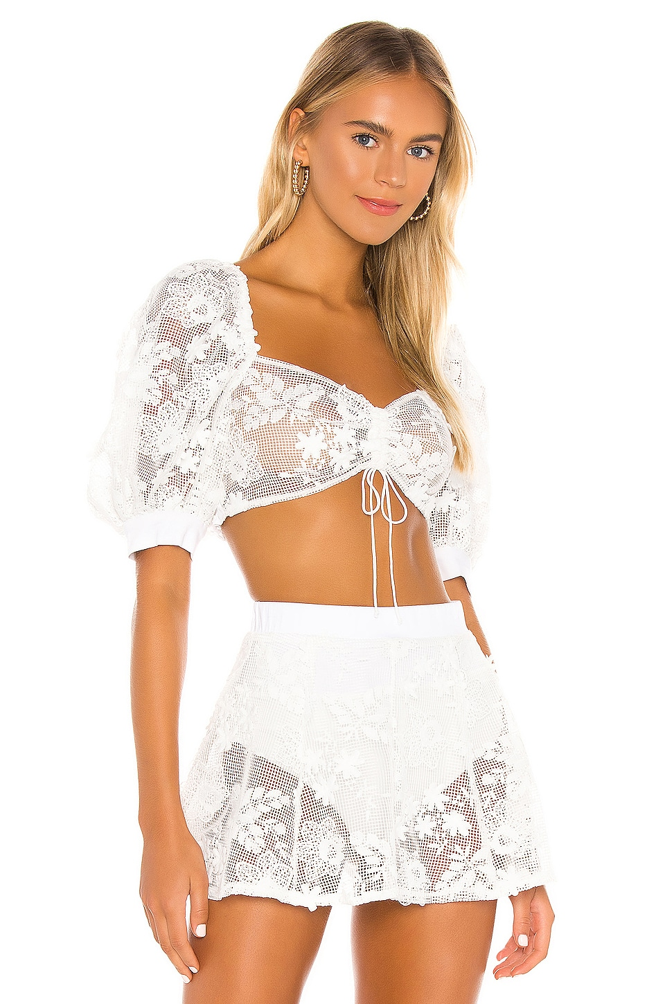 For Love & Lemons TOP CROPPED DAISY